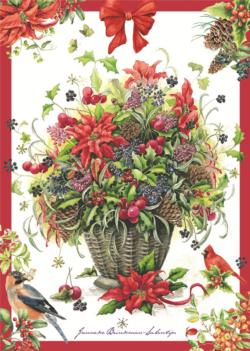 Winter Bouquet Christmas Jigsaw Puzzle