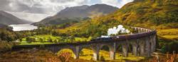 Glenfinnan Railway Trains Panoramic Puzzle