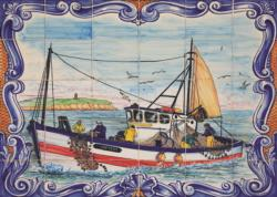 Portugese Tiles from Ferragudo Seascape / Coastal Living Jigsaw Puzzle