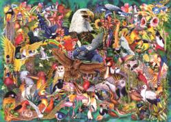 Animal Kingdom Collage Jigsaw Puzzle
