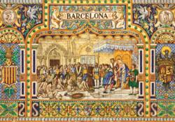 Tiles of Barcelona Spain Jigsaw Puzzle