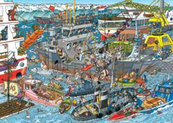 Sea Loading Dock Cartoons Jigsaw Puzzle