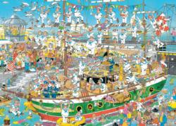 Tall Ship Chaos Cartoons Jigsaw Puzzle