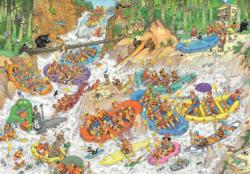 Wild Water Rafting Cartoons Jigsaw Puzzle