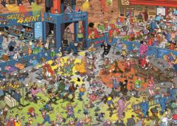 The Roller Disco Cartoons Jigsaw Puzzle