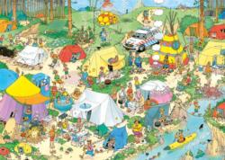 Camping In The Forest Outdoors Jigsaw Puzzle
