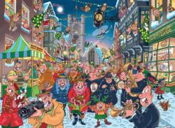 Wasgij Christmas #12: The Big Turn On Snow Jigsaw Puzzle