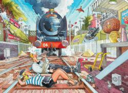 Wasgij Mystery 1 Retro: Mystery Express Trains Jigsaw Puzzle