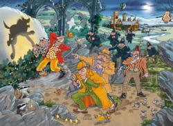 WASGIJ Mystery 14, The Hounds of the Wasgijville! Wasgij Jigsaw Puzzle