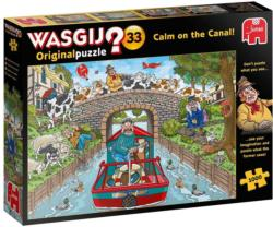 Wasgij Original 33:  Calm on the Canal Wasgij Jigsaw Puzzle