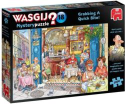 Wasgij Mystery 18: Grabbing a Quick Bite Food and Drink Jigsaw Puzzle