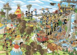 Pieces Of History The Wild West Trains Jigsaw Puzzle
