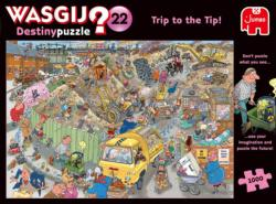 Wasgij Destiny 22: A Trip to the Tip Cartoon Jigsaw Puzzle