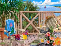 Peaceful Paradise Beach Jigsaw Puzzle