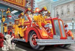 Firetruck Pups Vehicles Jigsaw Puzzle