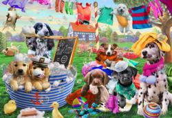 Laundry Day Collage Jigsaw Puzzle