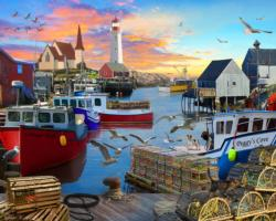 Fishing Cove - Scratch and Dent Sunrise / Sunset Jigsaw Puzzle