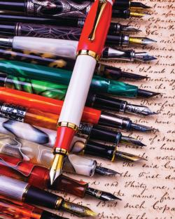 Fountain Pens Pattern / Assortment Jigsaw Puzzle
