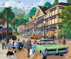 A Trip to Town Americana Jigsaw Puzzle