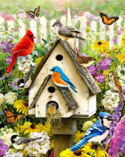 Backyard Birds Garden Jigsaw Puzzle