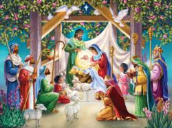 Magi at the Manger Christmas Jigsaw Puzzle