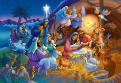 Heavenly Night Christmas Jigsaw Puzzle