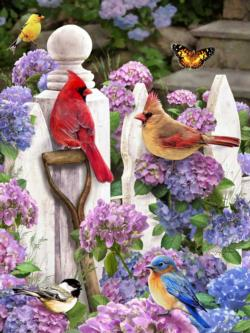 Cardinals & Friends Garden Jigsaw Puzzle