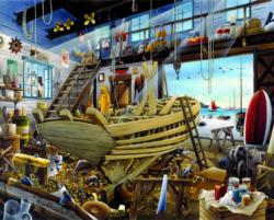 Boatyard Seascape / Coastal Living Jigsaw Puzzle