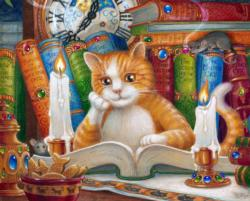 The Literate Cat Books / Library Jigsaw Puzzle