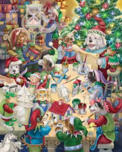 North Pole Pets Christmas Jigsaw Puzzle