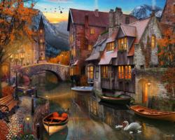 Autumn Canal Lakes / Rivers / Streams Jigsaw Puzzle