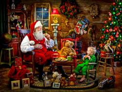 Santa's Visit Jigsaw Puzzle Domestic Scene Jigsaw Puzzle