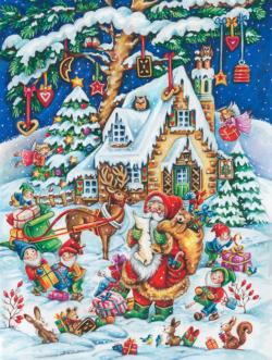 Santa's Helpers Jigsaw Puzzle Snow Jigsaw Puzzle
