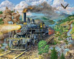 Big Horn Express Trains Jigsaw Puzzle