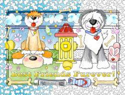 Best Friends Color Your Own Jigsaw Puzzle Dogs Coloring Puzzle