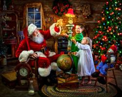 Santa's Magic Domestic Scene Jigsaw Puzzle