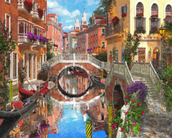 Venetian Waterway Lakes / Rivers / Streams Jigsaw Puzzle