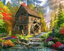 The Mill Cottage Cottage / Cabin Jigsaw Puzzle