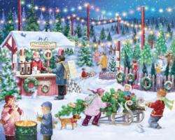 Christmas Tree Farm Snow Jigsaw Puzzle