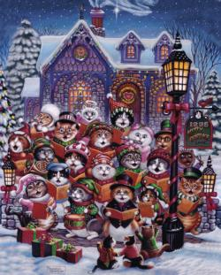 Purrfect Harmony - Scratch and Dent Christmas Jigsaw Puzzle