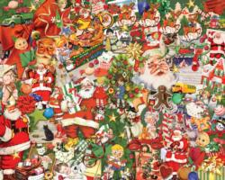 Vintage Christmas Collage Jigsaw Puzzle