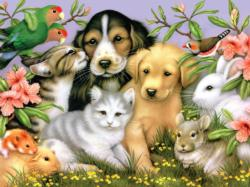 Loveable Pets Spring Jigsaw Puzzle