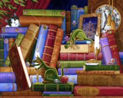 Cookies & Classics Library / Museum Jigsaw Puzzle