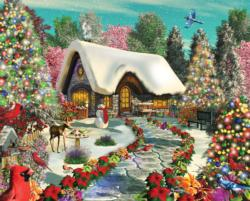 Snowy Delight Flowers Jigsaw Puzzle
