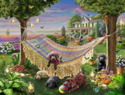 Puppies & Butterflies Jigsaw Puzzle Sunrise/Sunset Jigsaw Puzzle