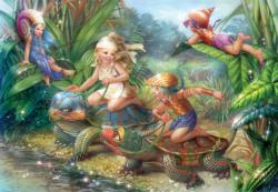 Turtle Pond Children's Jigsaw Puzzle Mermaids Children's Puzzles