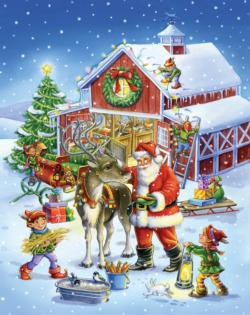 Ready Reindeer - Scratch and Dent Snow Jigsaw Puzzle