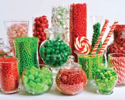 Christmas Candy Buffet Sweets Jigsaw Puzzle