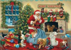 Santa's Beggars Snow Jigsaw Puzzle