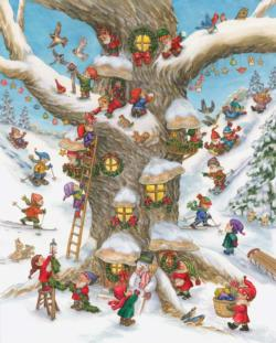 Elf Magic Snow Jigsaw Puzzle
